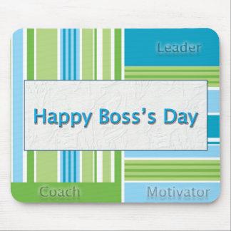 Rayas felices del día de Boss Alfombrillas De Raton