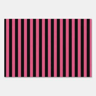 Rayas finas - negras y rosa oscuro señales