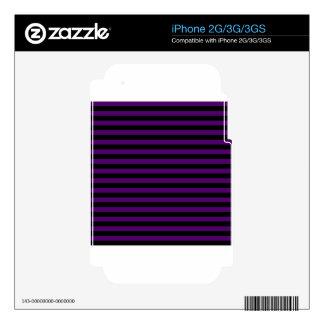 Rayas finas - negras y violeta oscura calcomanía para iPhone 3