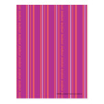 Rayas finas púrpuras postales