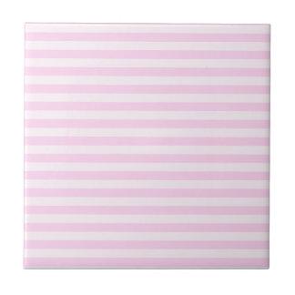Rayas finas - rosadas y rosas claras azulejo cuadrado pequeño