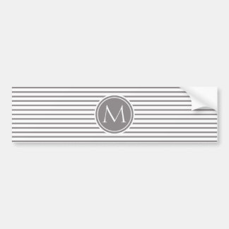Rayas finas Titanium modelo y monograma Pegatina Para Auto