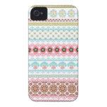 Rayas florales abstractas magníficas iPhone 4 Case-Mate fundas