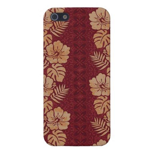 Rayas florales de la isla 2 iPhone 5 carcasa