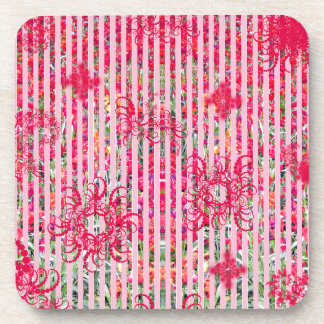 rayas fragtual del rosa del verano de la flor del posavaso