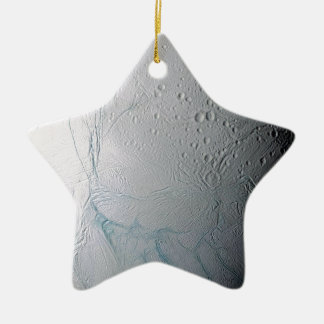 Rayas frescas del tigre en Enceladus Ornamentos De Navidad
