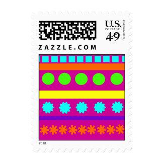 Rayas geométricas coloridas de las formas de sello