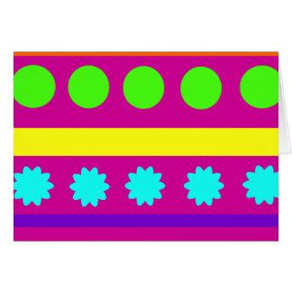 Rayas geométricas coloridas de las formas de tarjeta pequeña