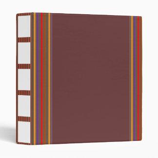 Rayas gráficas coloridas de la carpeta de AVERY