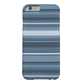 rayas Gris-azules Funda Para iPhone 6 Barely There