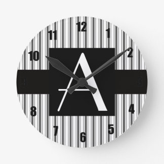 Rayas grises blancas del monograma relojes