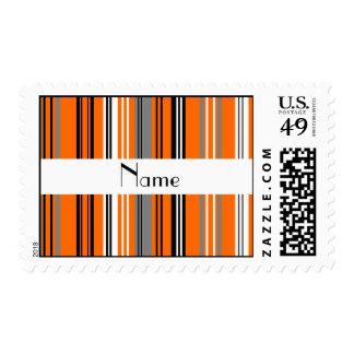 Rayas grises blancas negras anaranjadas sellos postales