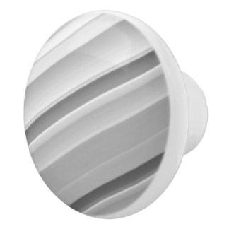 Rayas grises modernas pomo de cerámica
