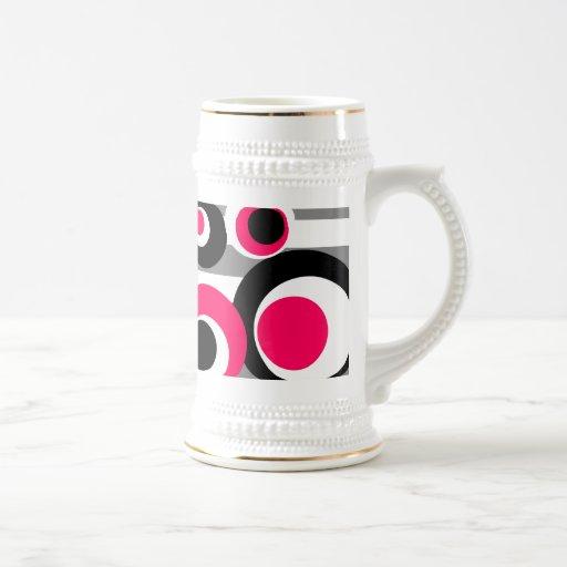 rayas grises negras blancas rosadas jarra de cerveza
