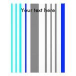 Rayas grises y azules blancas modernas membrete a diseño