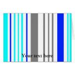 Rayas grises y azules blancas modernas tarjetas