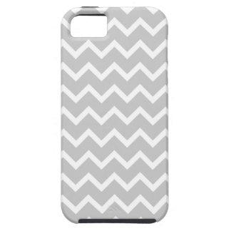 Rayas grises y blancas del zigzag iPhone 5 cobertura