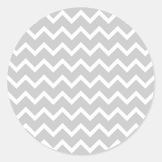 Rayas grises y blancas del zigzag pegatina