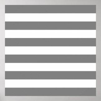 Rayas grises y blancas póster