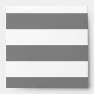 Rayas grises y blancas sobres