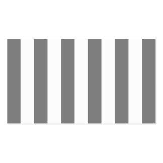 Rayas grises y blancas tarjetas de negocios