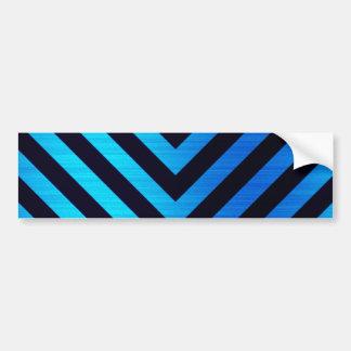 Rayas hacia abajo azules y negras del peligro pegatina para auto