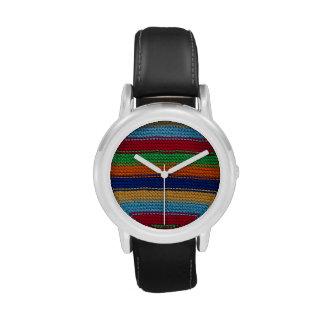 Rayas hechas punto coloridas relojes