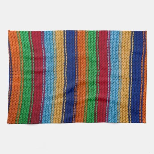 Rayas hechas punto coloridas toallas de mano