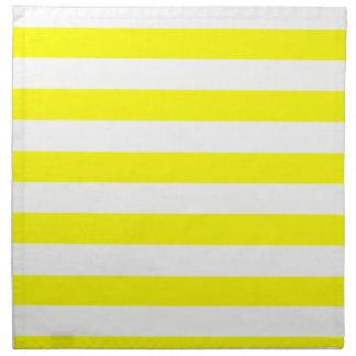 Rayas horizontales amarillas eléctricas servilleta de papel
