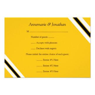 rayas horizontales amarillas negras intrépidas mod invitación personalizada