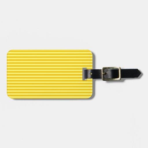 Rayas horizontales - amarillo y amarillo de la man etiqueta para equipaje