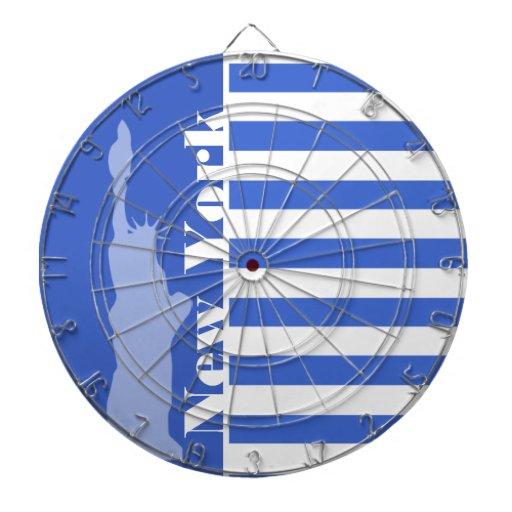 Rayas horizontales azules de Han; Nueva York Tabla Dardos