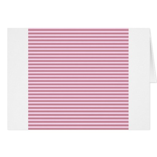 Rayas horizontales - cordón rosado y Puce Tarjetas