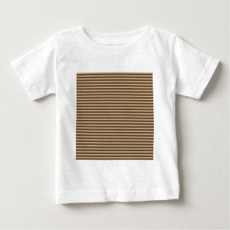 Rayas horizontales - de color caqui y Brown oscuro Playeras