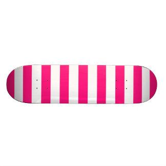 Rayas horizontales de color rosa oscuro tablas de patinar