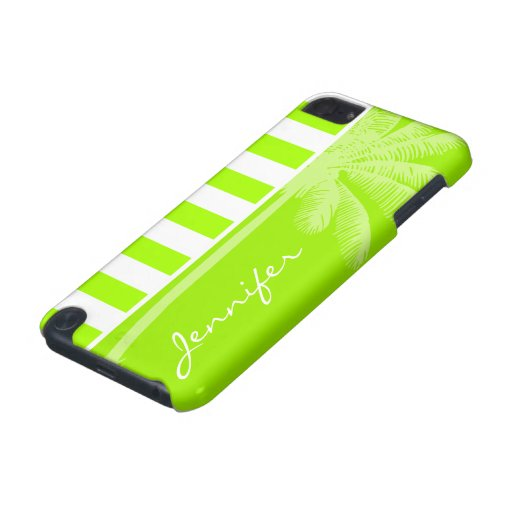 Rayas horizontales de la cal eléctrica; Palma Funda Para iPod Touch 5G
