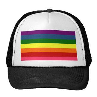 Rayas horizontales del arco iris gorras de camionero