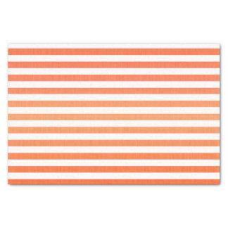 Rayas horizontales del naranja y del blanco papel de seda pequeño