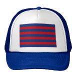 Rayas horizontales del tema náutico grande gorras