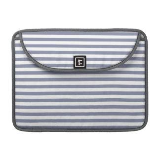 Rayas horizontales grises frescas; Rayado Funda Para Macbook Pro
