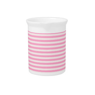Rayas horizontales - palidezca - rosa y rosa del c jarrones