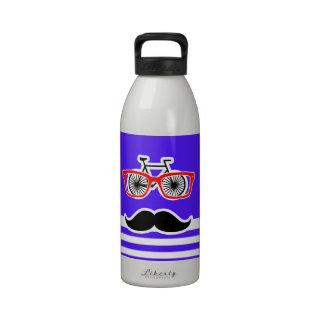 Rayas horizontales púrpuras de Han Inconformista Botellas De Agua Reutilizables