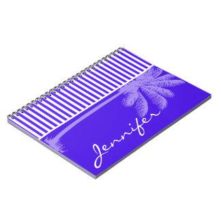 Rayas horizontales púrpuras de Han; Palmera Libretas