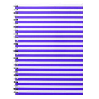Rayas horizontales púrpuras de Han; Rayado Cuaderno