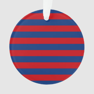 Rayas horizontales rojas y azules de la moda