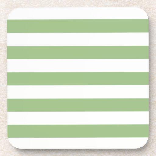 Rayas horizontales verdes del laurel posavaso