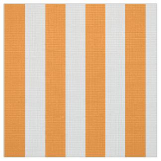 Rayas impresas de la tela, del naranja y del telas