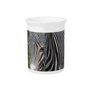 Rayas intrépidas de la cebra jarra para bebida