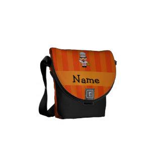 Rayas italianas conocidas personalizadas del naran bolsa de mensajeria