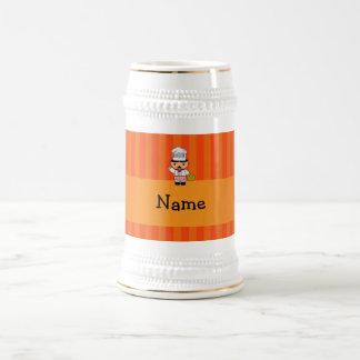 Rayas italianas conocidas personalizadas del naran taza de café